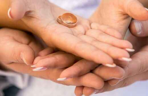 Ehering für die Hochzeit