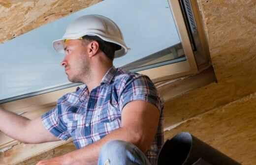 Dachfenster montieren - Gewölbt