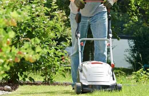 Rasenpflege - Kompletter Rundum-Service (regelmäßig) - Mit Rasen Bedecken