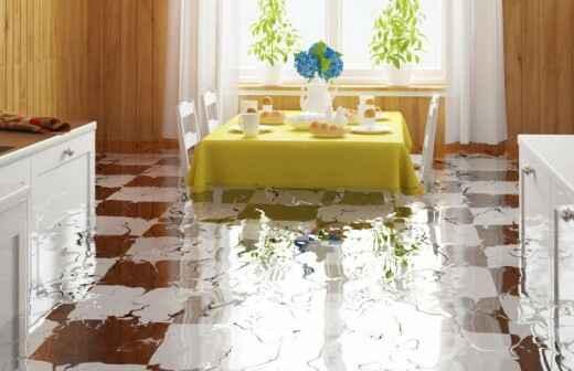 Reinigung und Instandsetzung nach einem Wasserschaden - Wetterfest