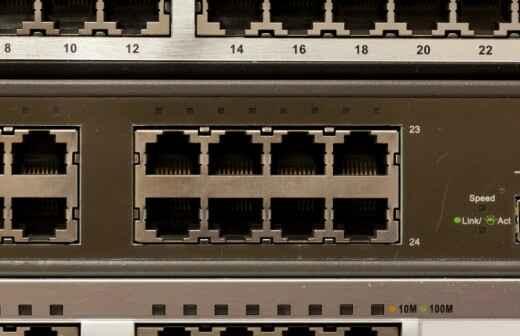 Router-Installation und Einrichtung - Kabel