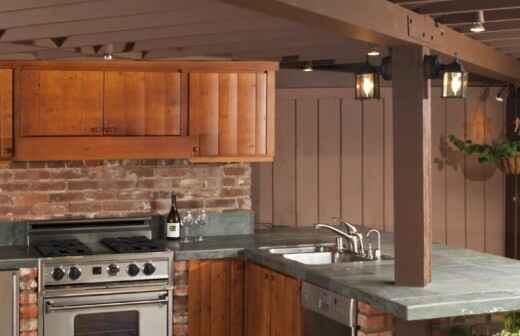 Außenküche renovieren oder bauen - Wiederaufbau