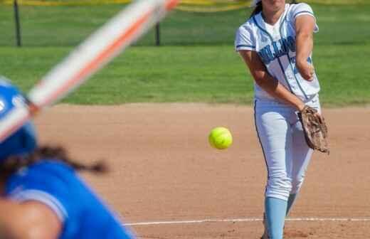Softballtraining - Schlag