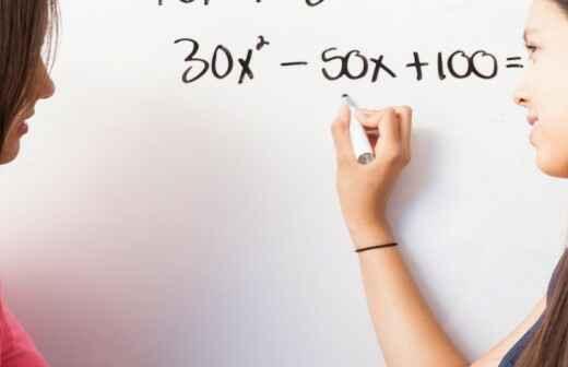 Nachhilfe in Algebra - Überprüfung