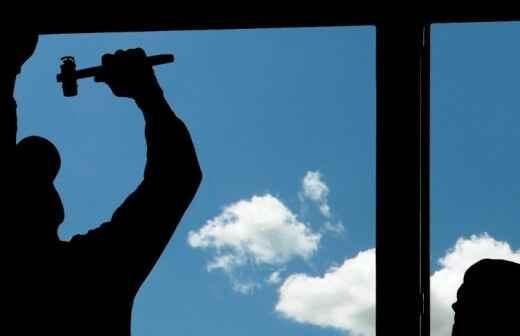 Fensterreparatur - Gewölbt