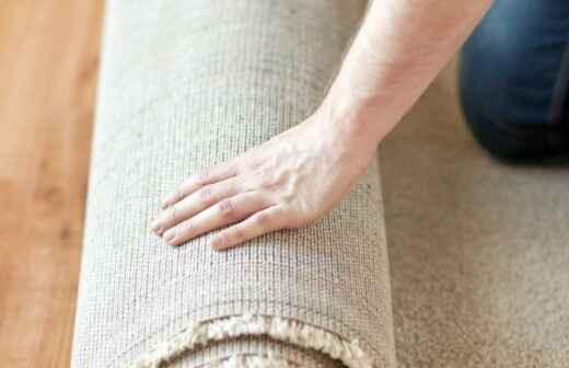 Teppich verlegen - Farbsäume