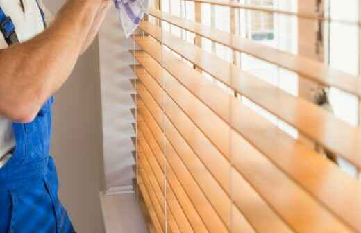 Window Blinds Cleaning - Curtains