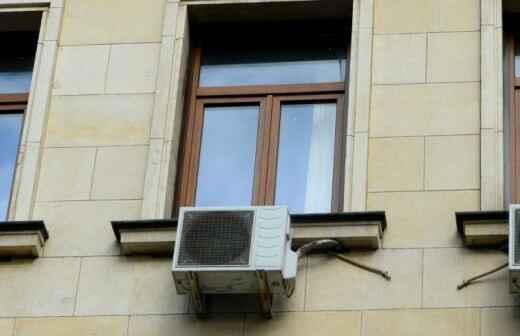 Fenster-Klimaanlage Installation