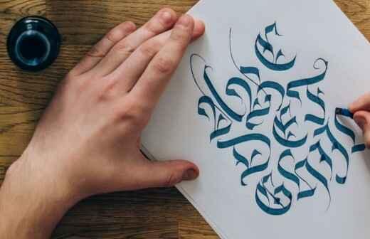 Kalligraphie-Unterricht - Kalligraph