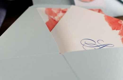 Hochzeitseinladungen - Postkarte