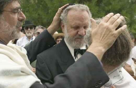 Zelebrant für eine jüdische Hochzeit