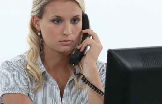 Administrative Unterstützung - Aufzeichnung