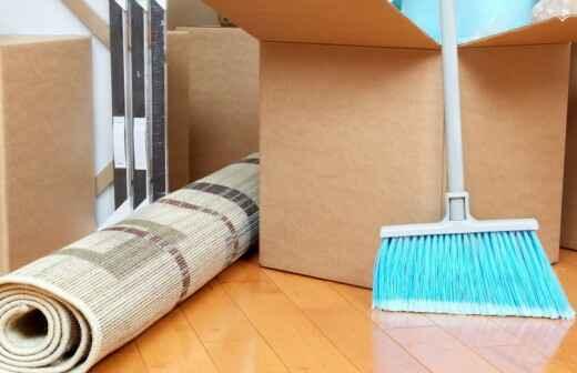 Reinigung nach Ein- oder Auszug - Verpackung
