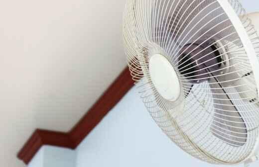 Ventilator montieren - Sicherung