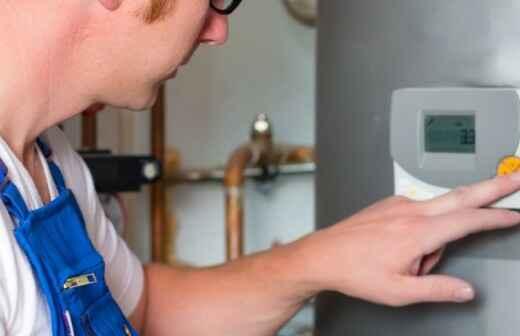 Dampfkessel installieren