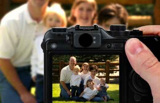 Familienportrait - Holzkohle