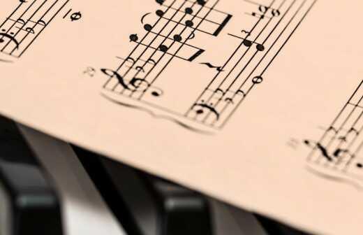 Musiknoten Gravur - Gravur