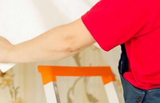 Tapete ausbessern oder reparieren - Schlafzimmer