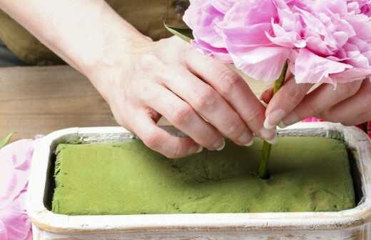 Blumenarrangement-Kurse - Anordnung