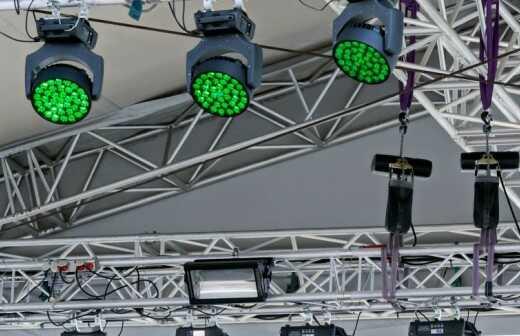 Beleuchtung und Lichttechnik für Events mieten - Baumwolle