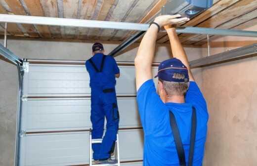 Reparatur des Garagentors - Umgestaltung