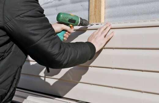 Wände verkleiden, reparieren oder entfernen - Fassade