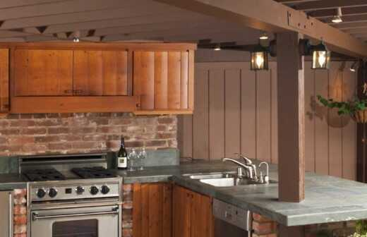Außenküche renovieren oder bauen - Neudeckung