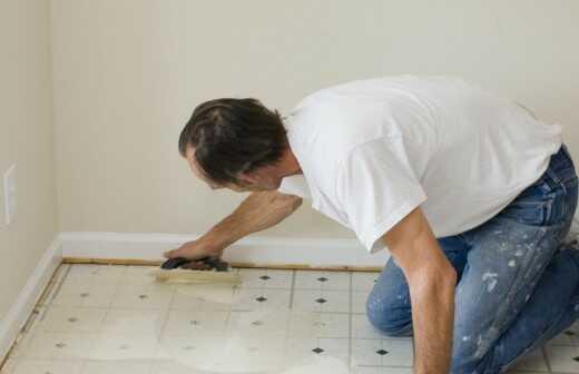 Vinyl- oder Linoleumboden reparieren oder ausbessern - Färbung