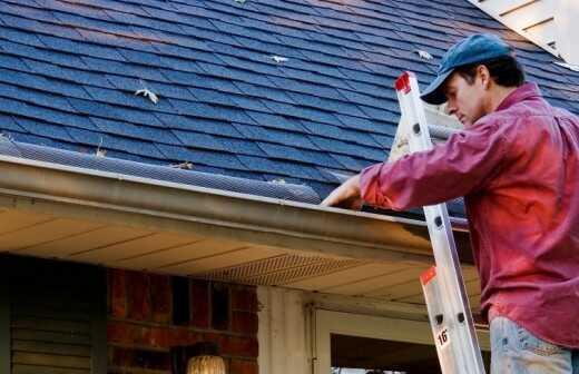 Dachrinnen reparieren - Dach