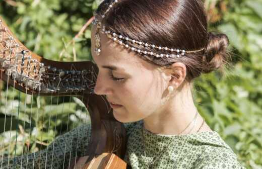 Harfenunterricht - Harfenspieler