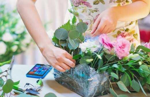 Florist für Veranstaltungen - Stufen