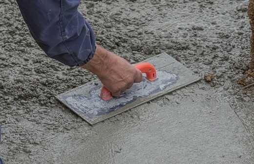 Beton- oder Estrichfußbodenbelag - Parkettlege