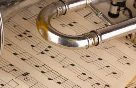 Trompetenunterricht - Nehmen