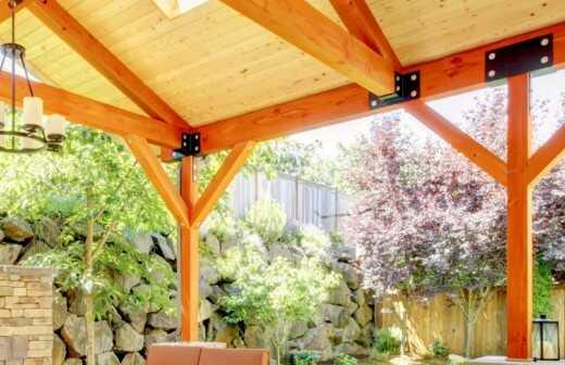 Terrassenüberdachung montieren - Pavillon