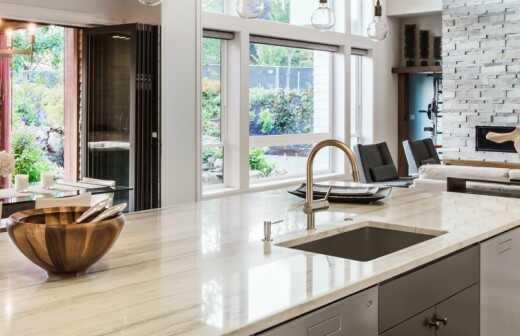 Entfernen / Demontage einer Kücheninsel - Küche
