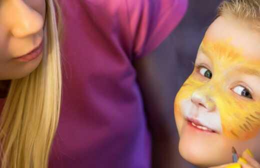 Kinderschminken - Gesichtsbemalung - Metallisch