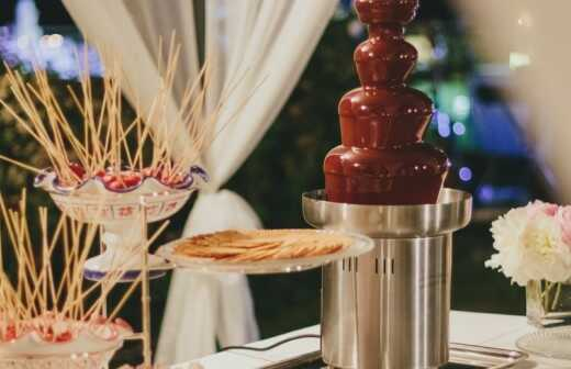 Schokoladenbrunnen mieten - Tischdecke