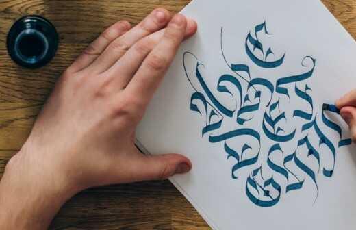 Kalligraphie - Prägung