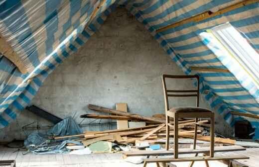 Remodelación del ático - Aisladores