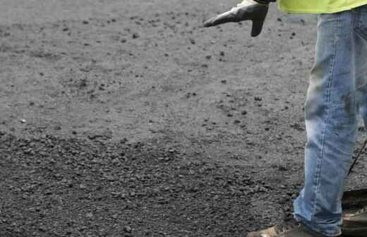Instalación de asfalto - Escarpado