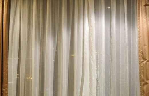 Instalación o reemplazo de cortinas