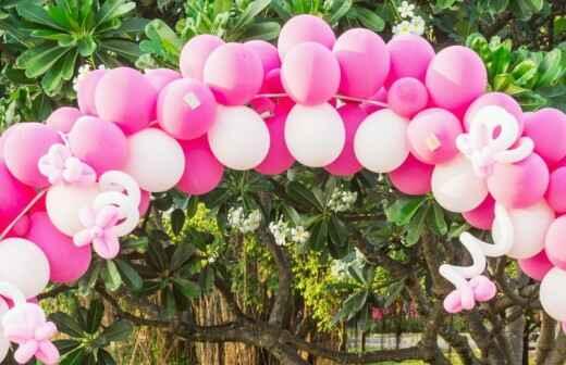 Decoración con globos - Cortinas