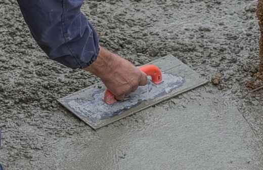 Instalación de suelos de hormigón