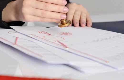 Autenticación bajo notario - Documentos