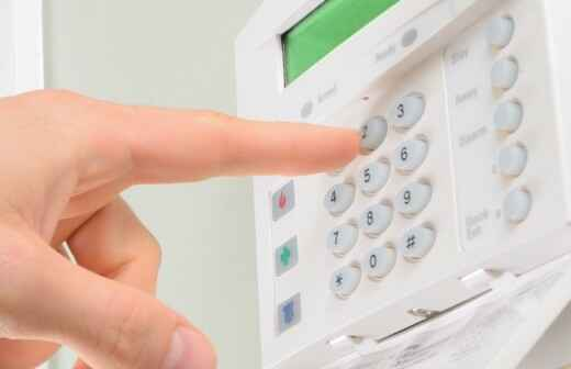 Instalación de alarmas de seguridad del hogar