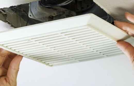 Instalación o reemplazo del ventilador del baño