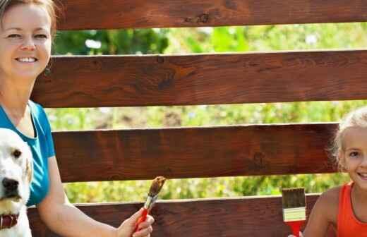 Dog Fence Installation - Putting