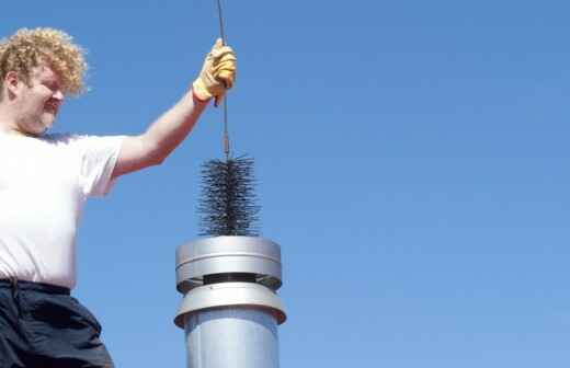 Chimney Cleaning - Damper