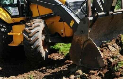 Backhoe Services - Regrading