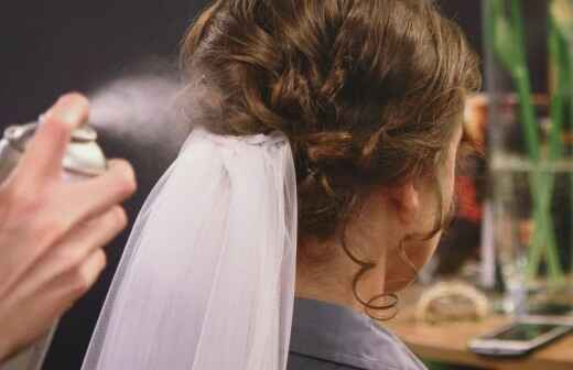 Wedding Hair Styling - Veil